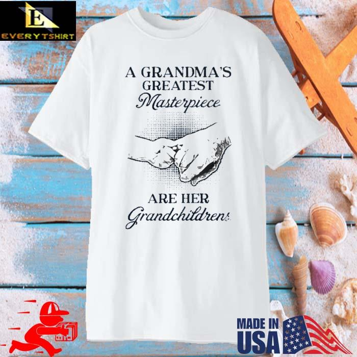 A grandma's greatest masterpiece are her grandchildrens shirt