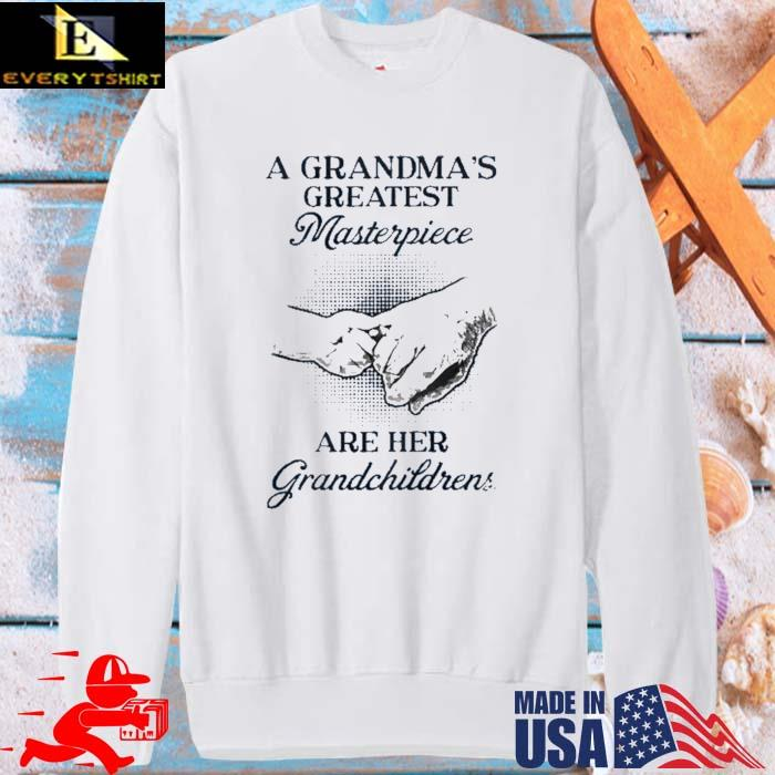 A grandma's greatest masterpiece are her grandchildrens sweater trang