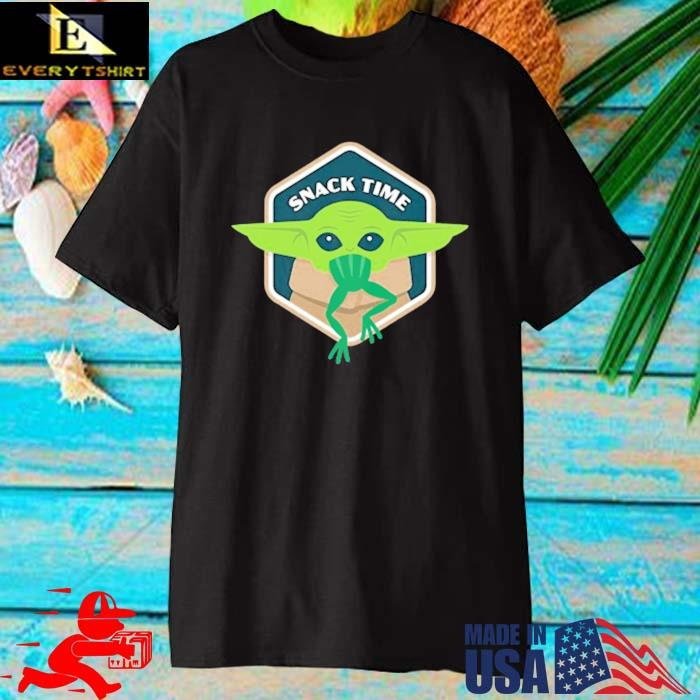 Star Wars Baby Yoda Mandalorian The Child Snack Time Shirt