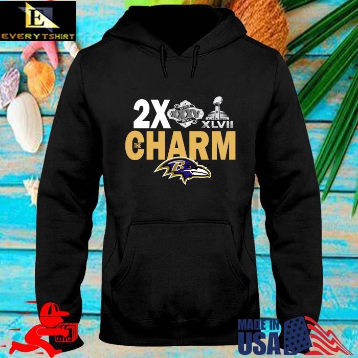 Baltimore Ravens 2x super bowl the charm s hoodie den