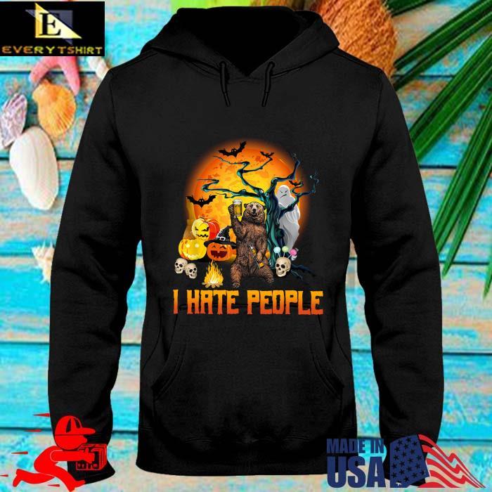 Bear I hate people Halloween s hoodie den