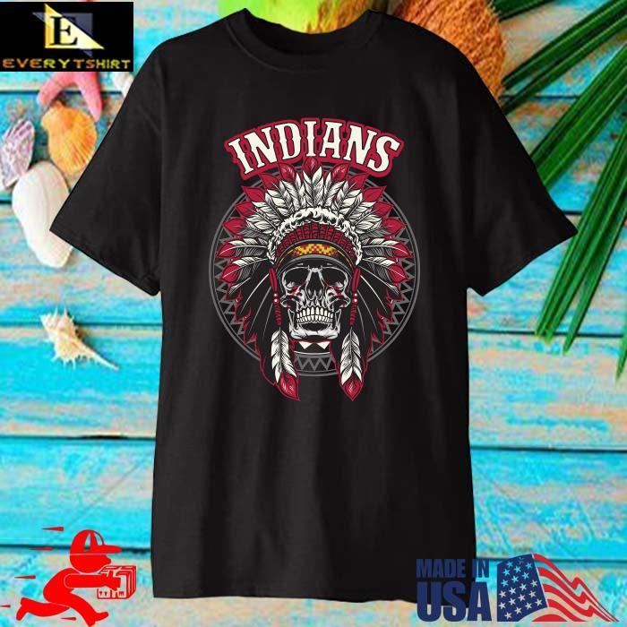 Cleveland Indians Skull Native America Shirt