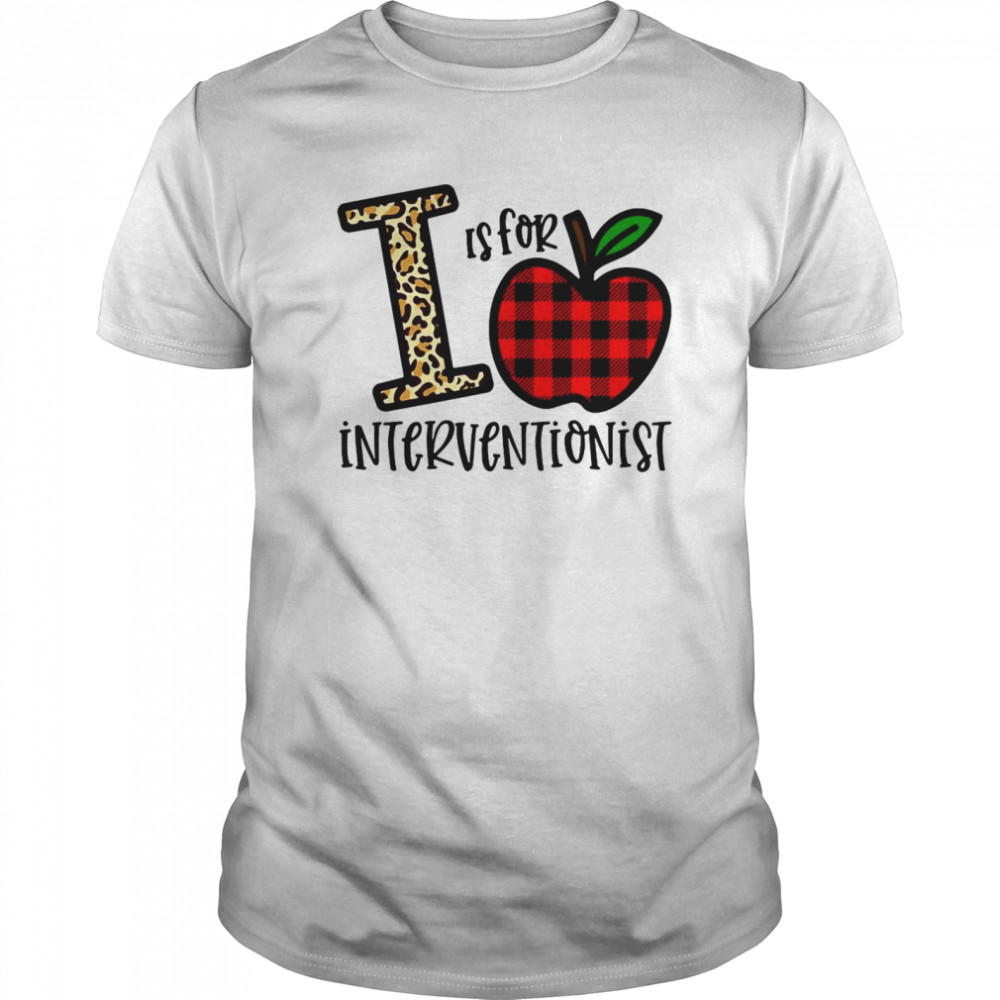 Apple I Leopard Is For Teacher Interventionist  Classic Men's T-shirt