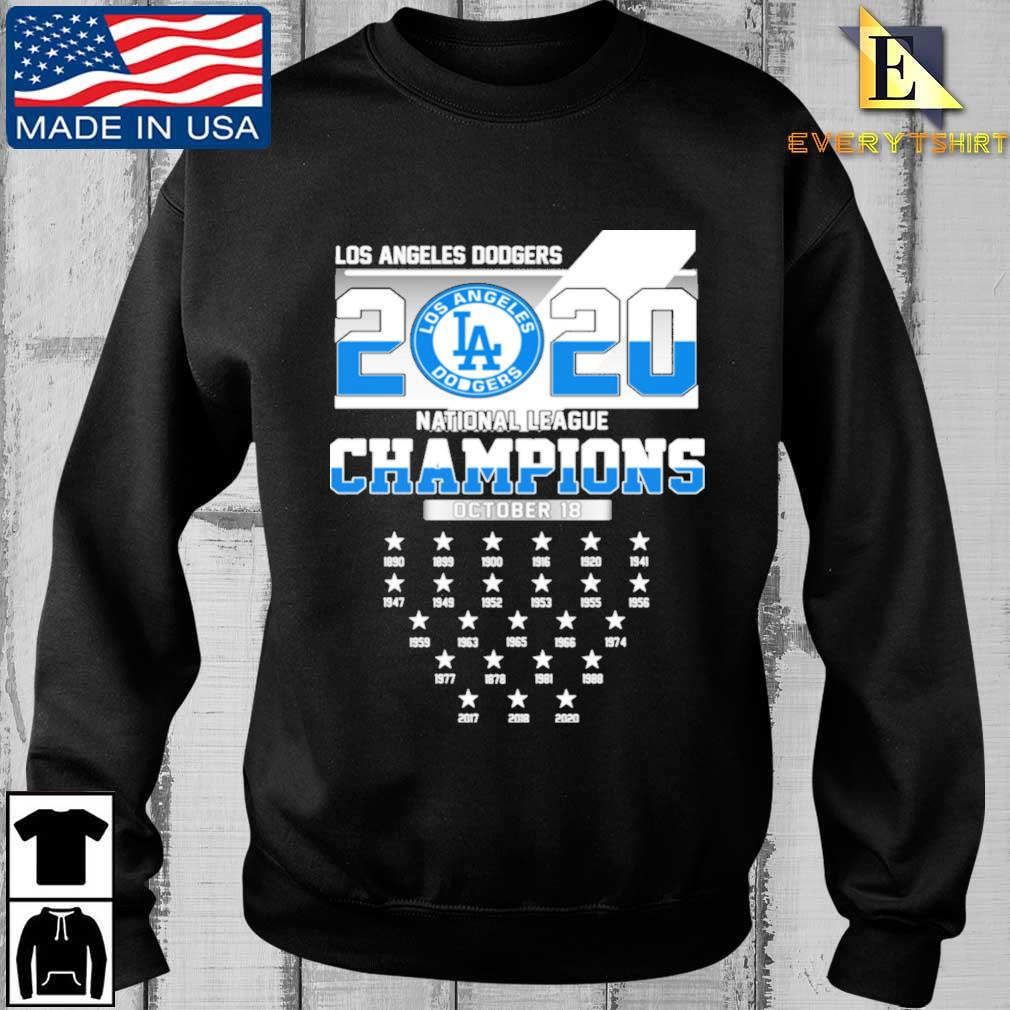 2020 Los Angeles Dodgers Baseball National League Champions 1890-2020 Shirt
