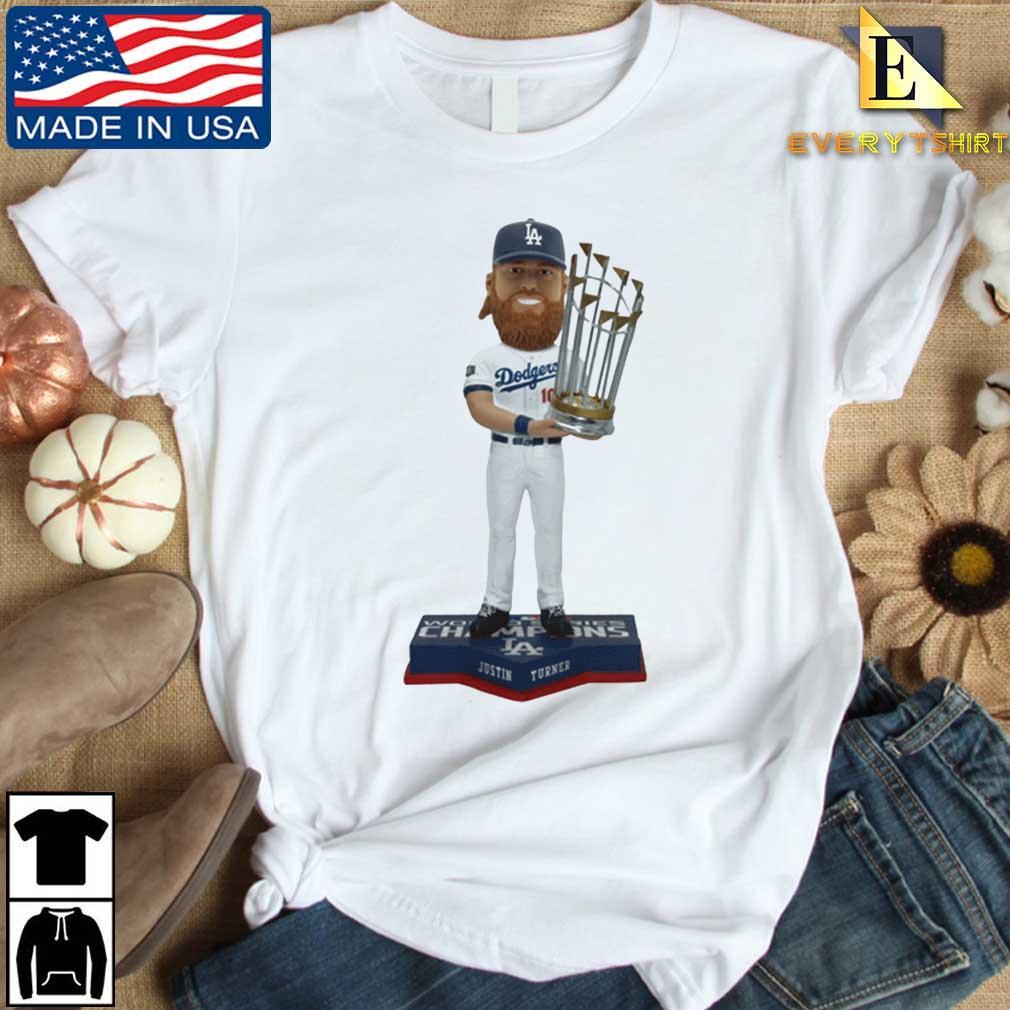 Justin Turner Member Los Angeles Dodgers 2020 World Series Champions Bobblehead Shirt Every shirt trang dai dien