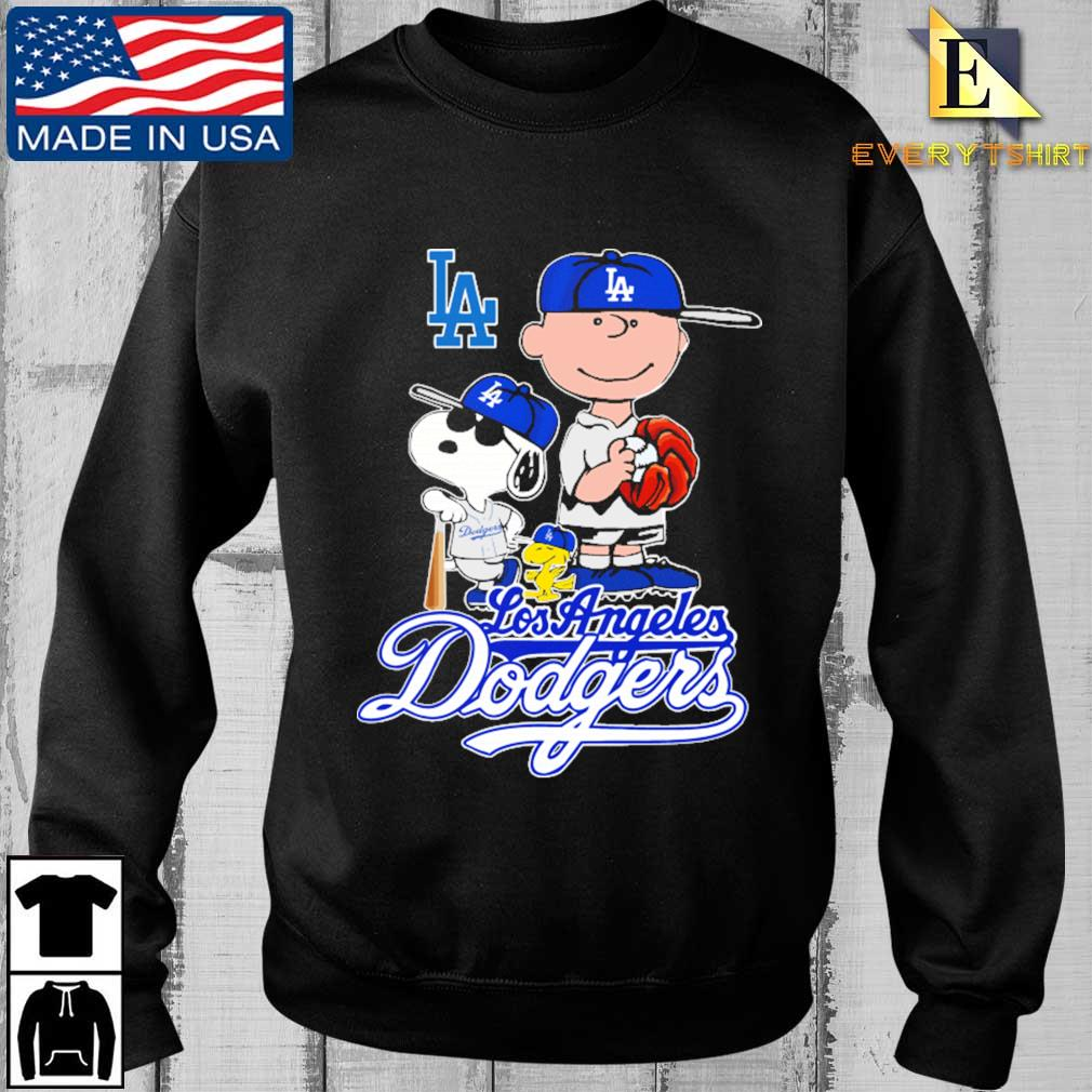 Los Angeles Dodgers Charlie Brown Snoopy and Woodstock baseball shirt
