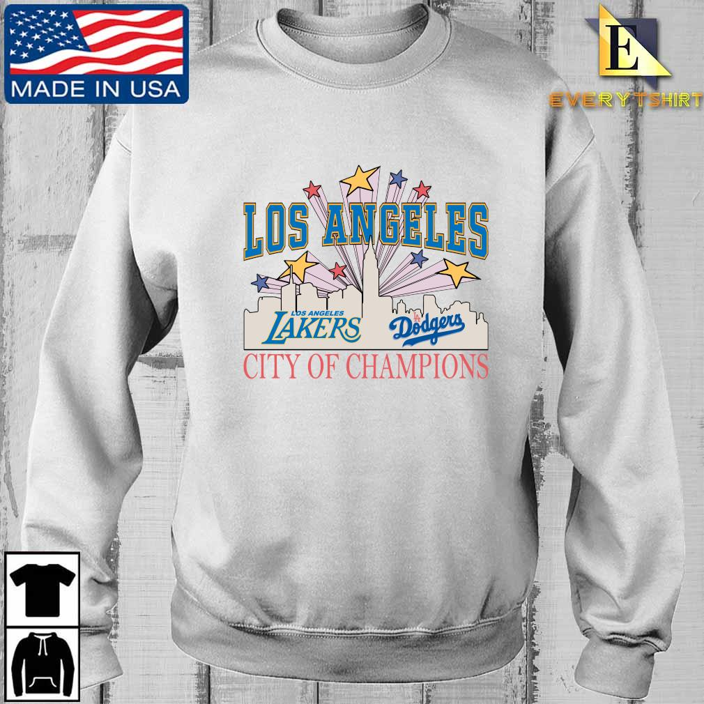 Los Angeles LA Lakers And LA Dodgers City Of Champion Shirt