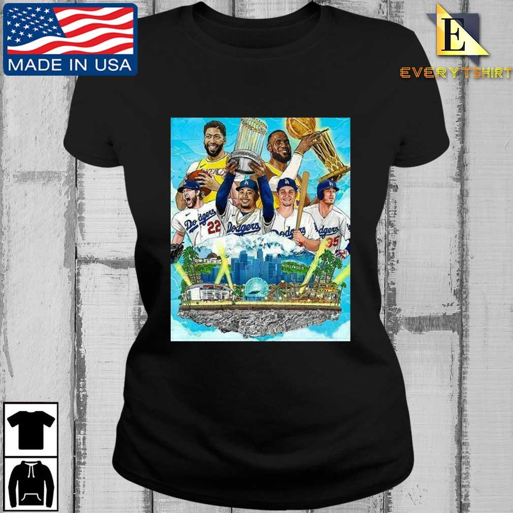 Los Angeles Lakers And Los Angeles Dodgers Champions 2020 Player Shirt Every ladies den
