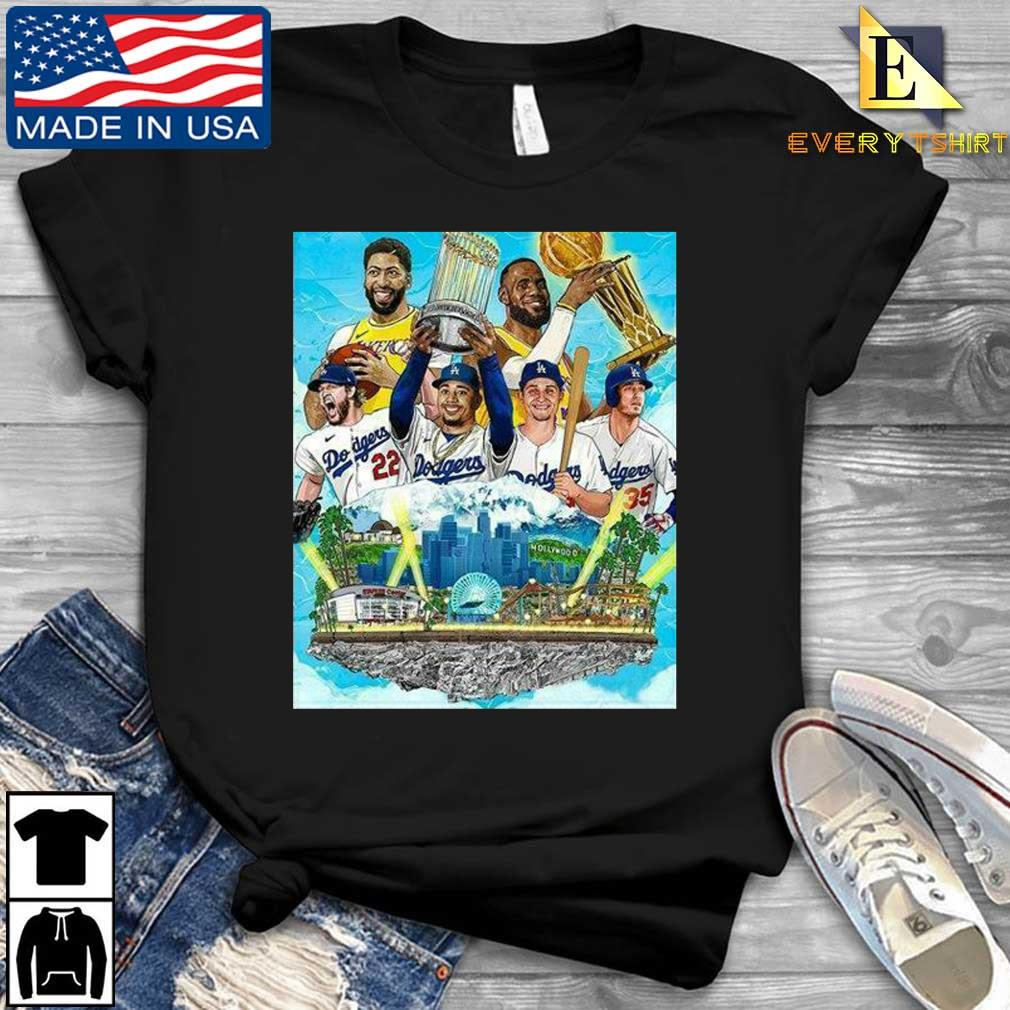 Los Angeles Lakers And Los Angeles Dodgers Champions 2020 Player Shirt Every shirt den dai dien