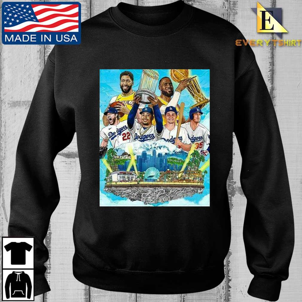 Los Angeles Lakers And Los Angeles Dodgers Champions 2020 Player Shirt