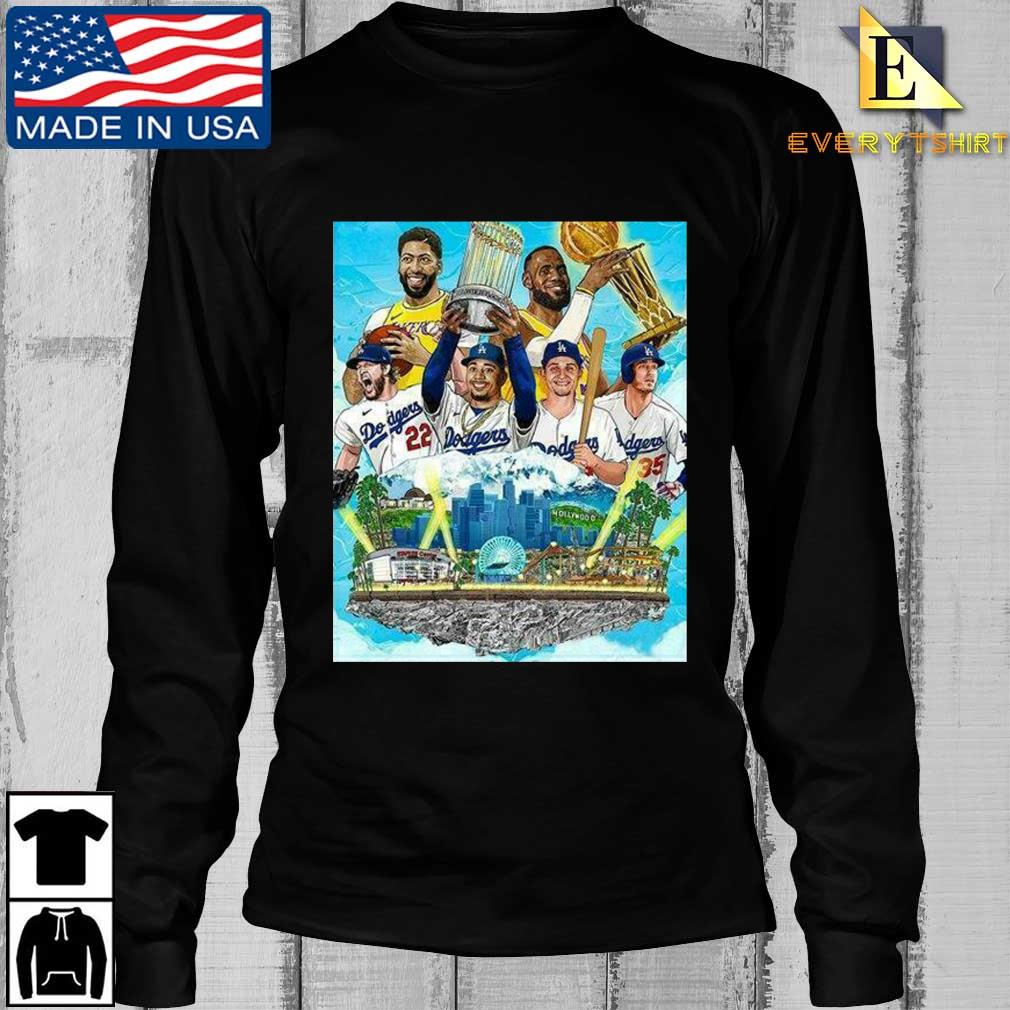 Los Angeles Lakers And Los Angeles Dodgers Champions 2020 Player Shirt Longsleeve Every den