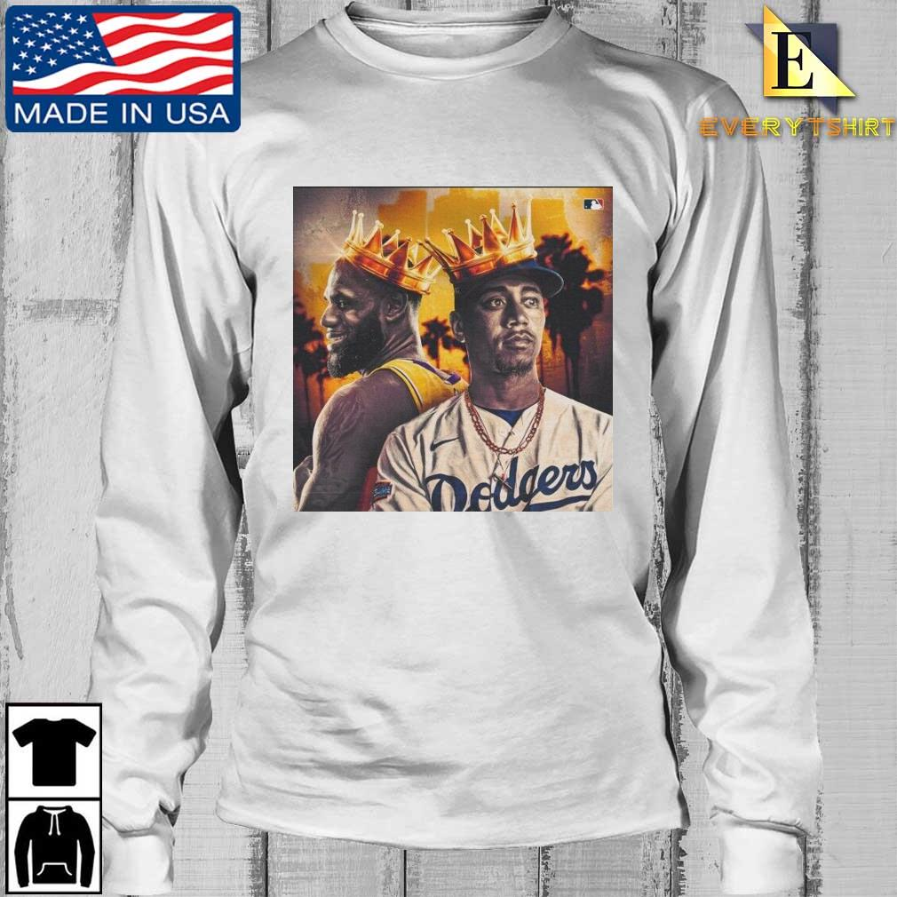 Los Angeles Lakers Kobe Bryant and Los Angeles Dodgers Mookie Betts Shirt Longsleeve Every trang