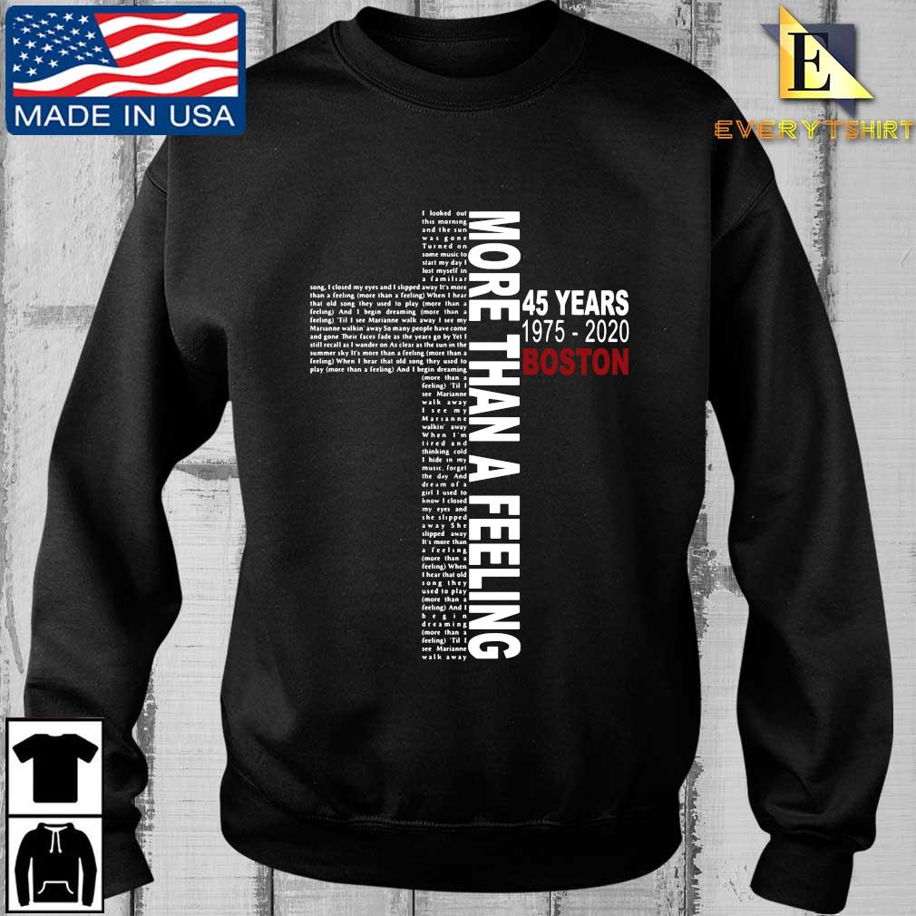 Lyrics More than a feeling 45 years 1975-2020 Boston shirt