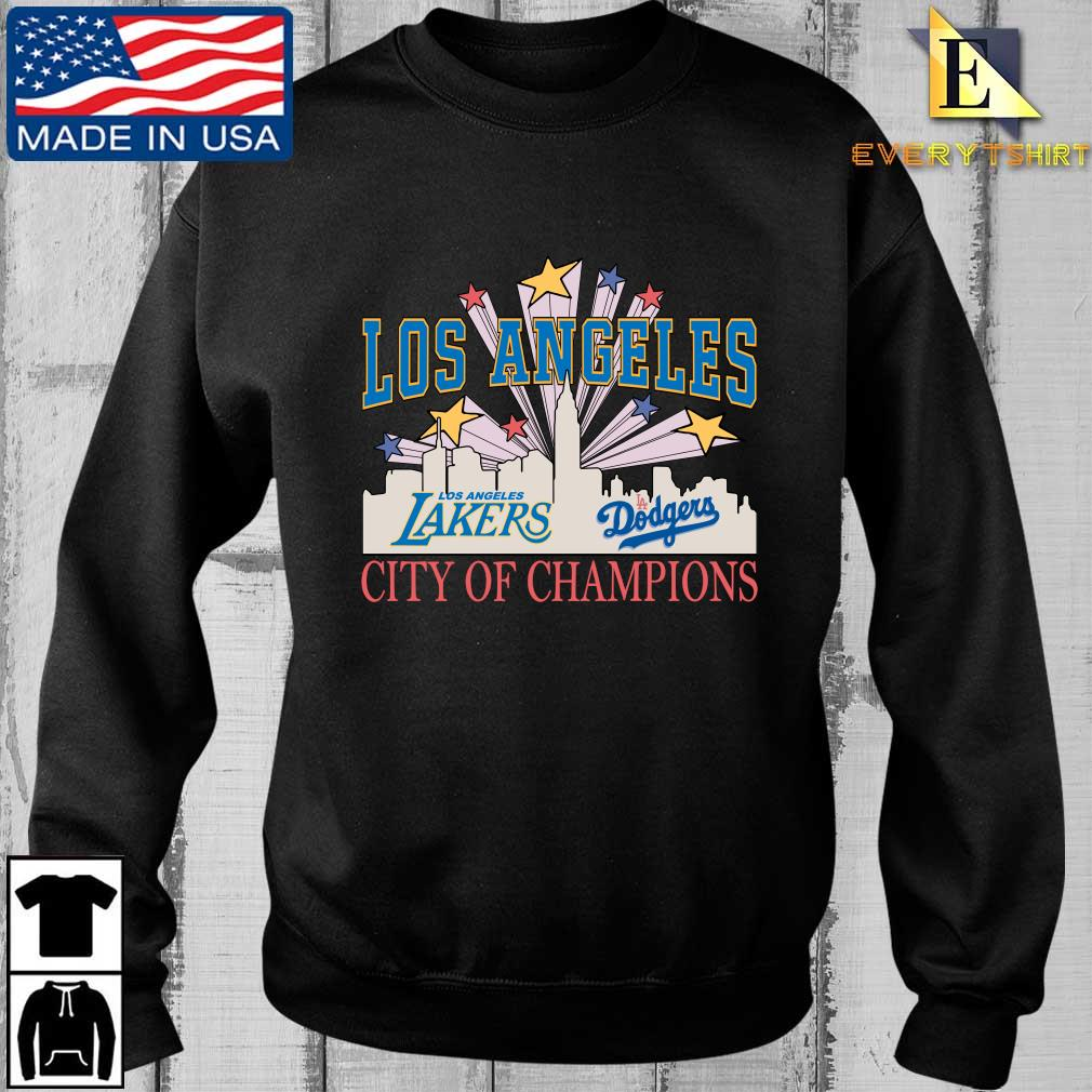 Official Los Angeles LA Lakers And LA Dodgers City Of Champion Shirt