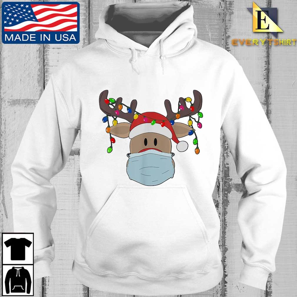 Reindeer face mask light Christmas sweater Every hoodie trang