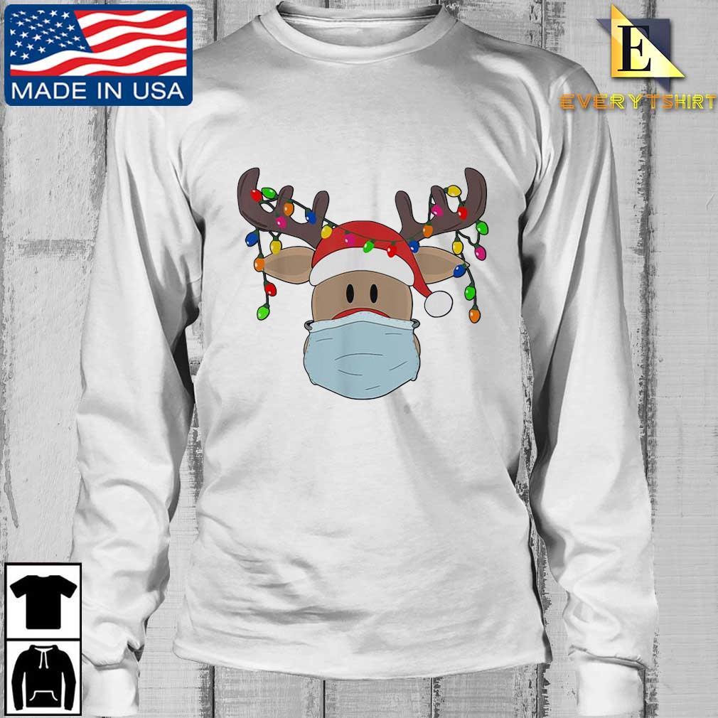 Reindeer face mask light Christmas sweater Longsleeve Every trang