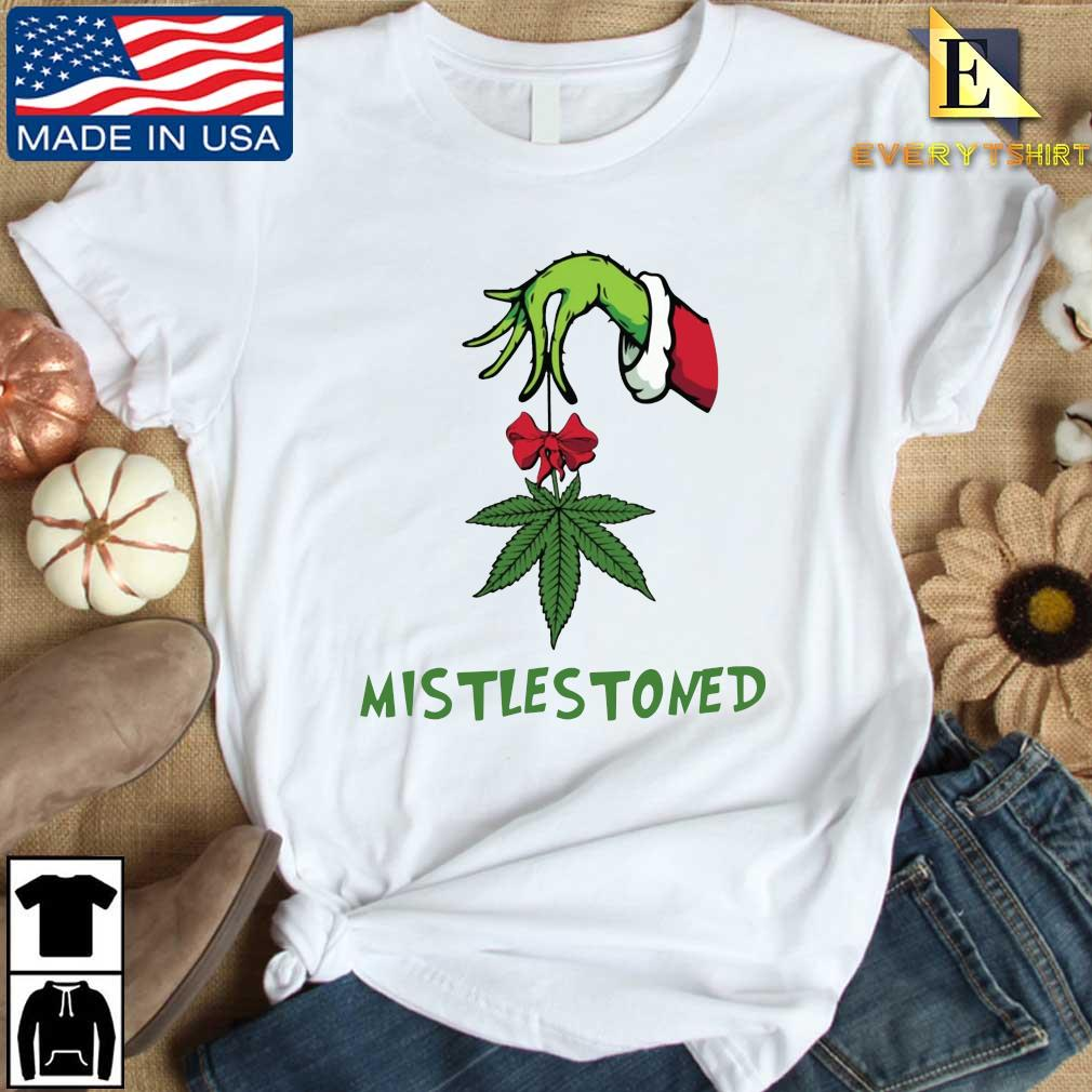 The Grinch hand holding weed mistlestoned Christmas sweater Every shirt trang dai dien