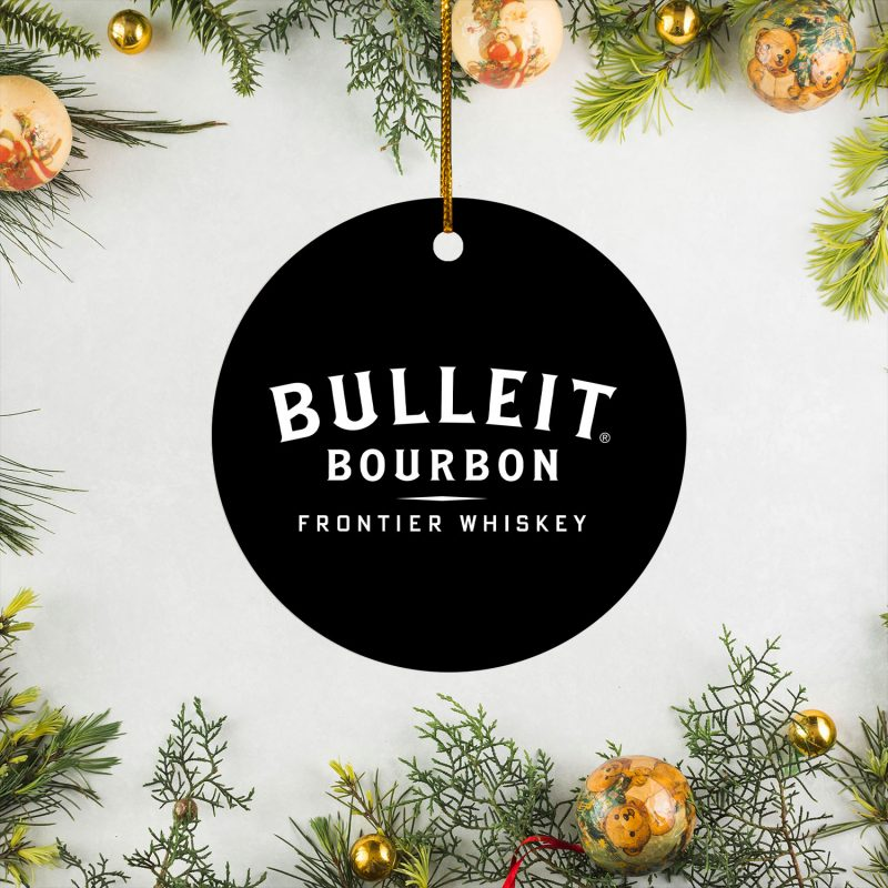 Bulleit Bourbon Whiskey Christmas Circle Ornament