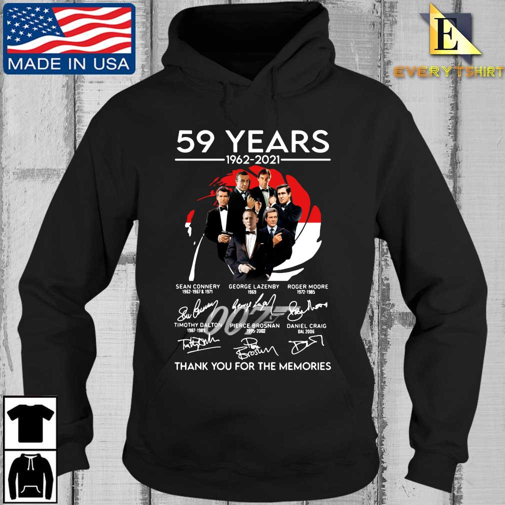 007 59 years 1962-2021 thank you for the memories signatures s Every Hoodie den