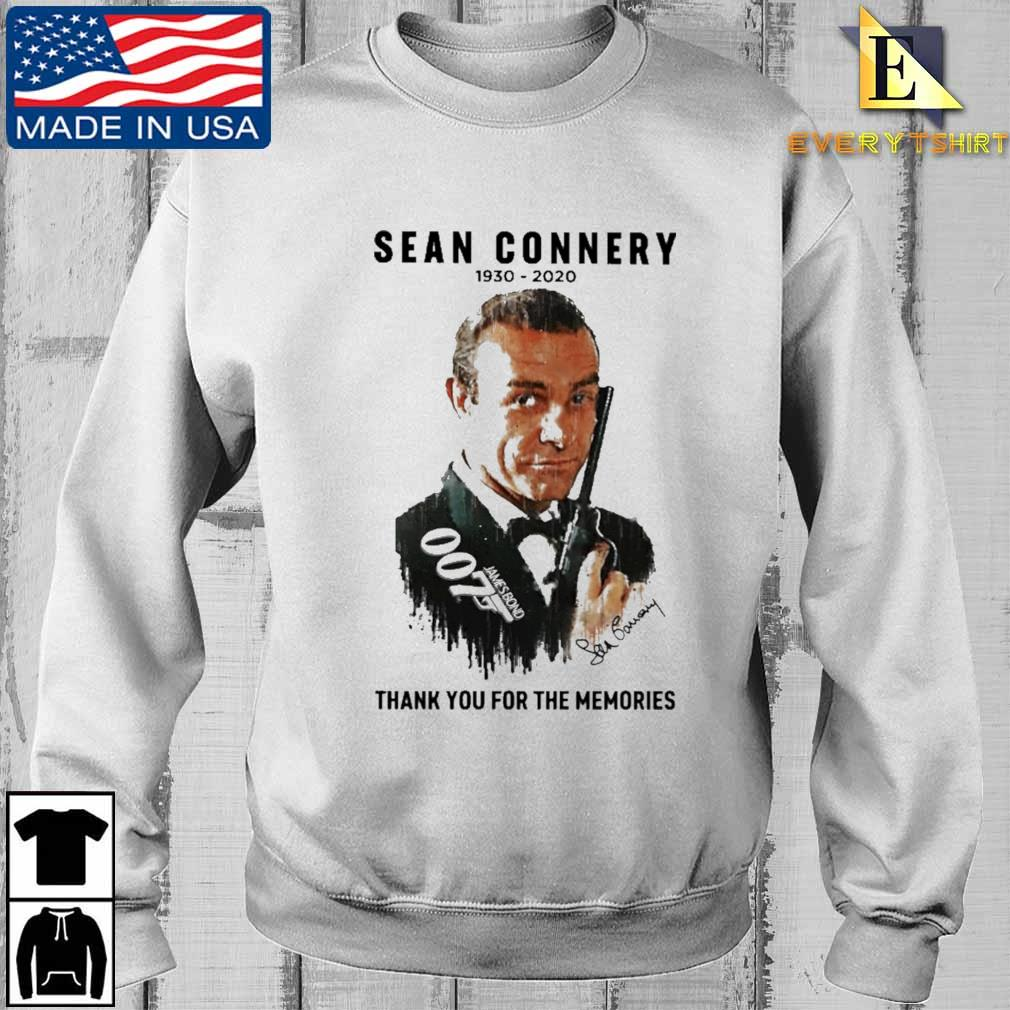 007 Sean Connery thank you for the memories signature shirt