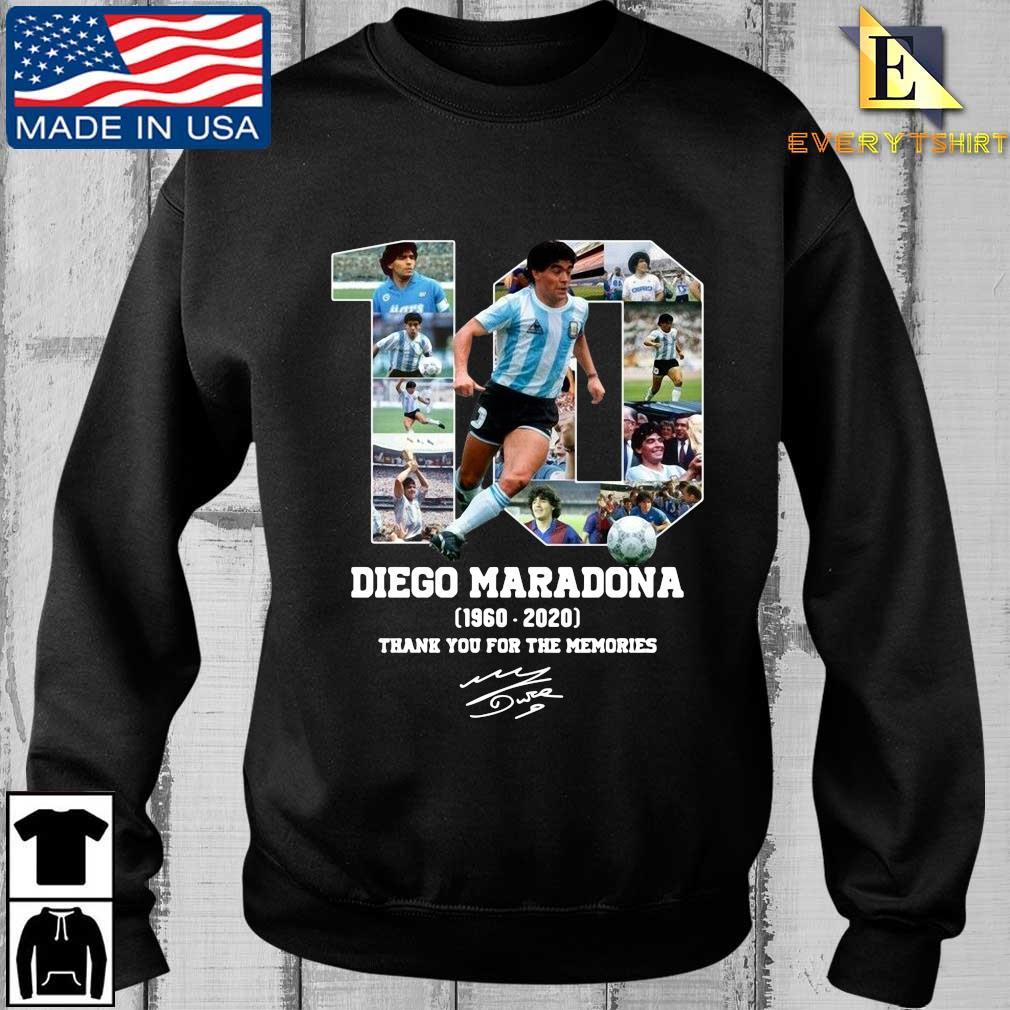 10 Diego Maradona 1960 2020 signature thank you for the memories shirt