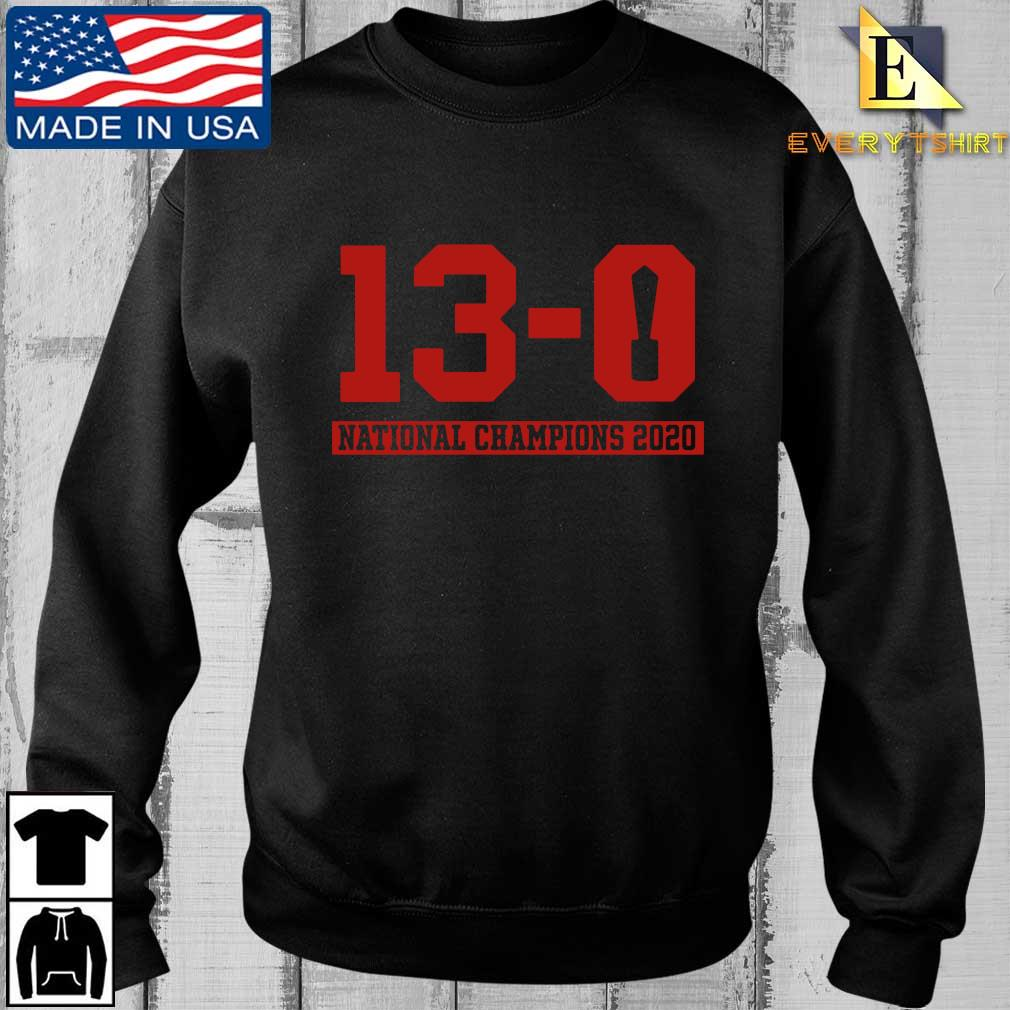 13-0 national Champions 2020 shirt