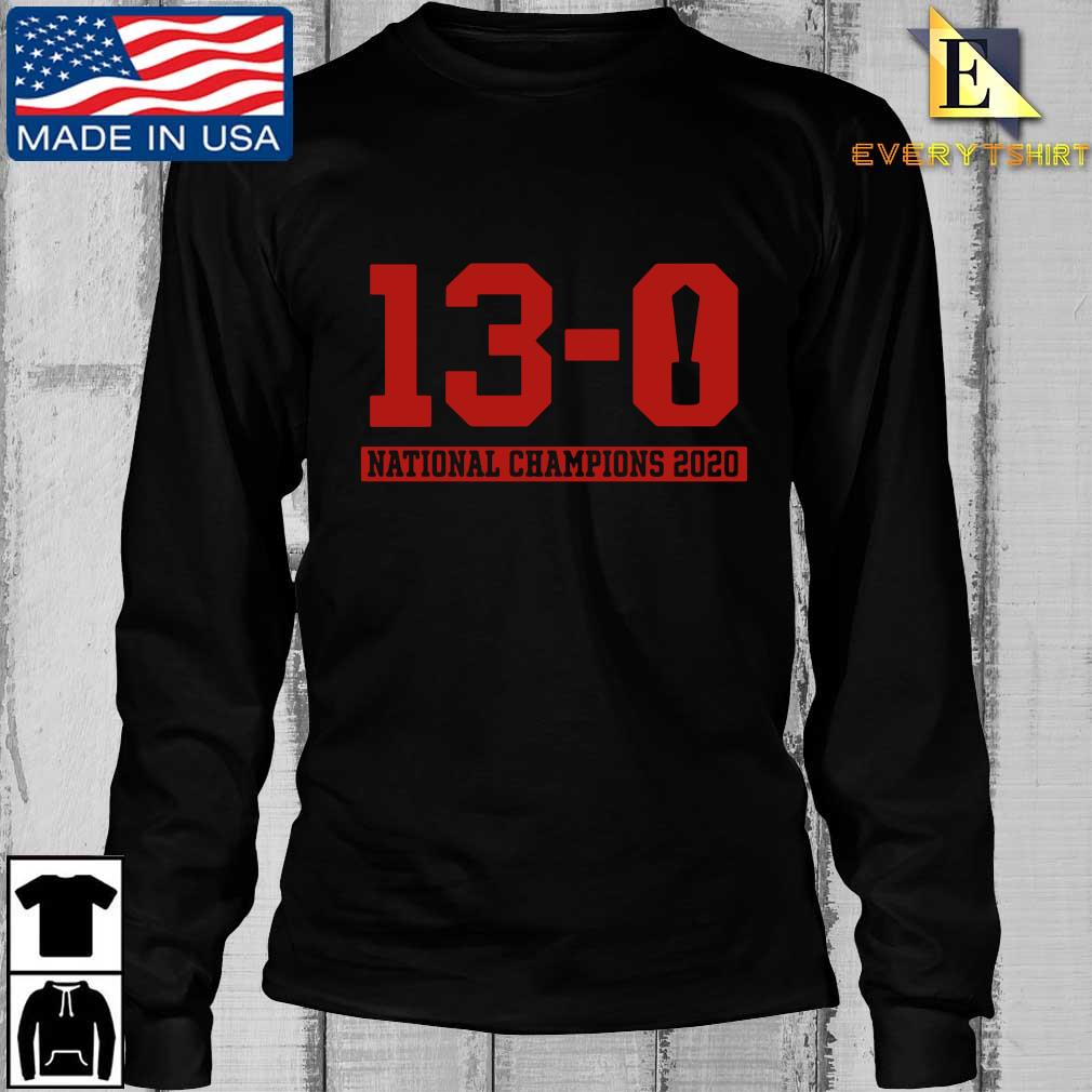 13-0 national Champions 2020 s Longsleeve Every den