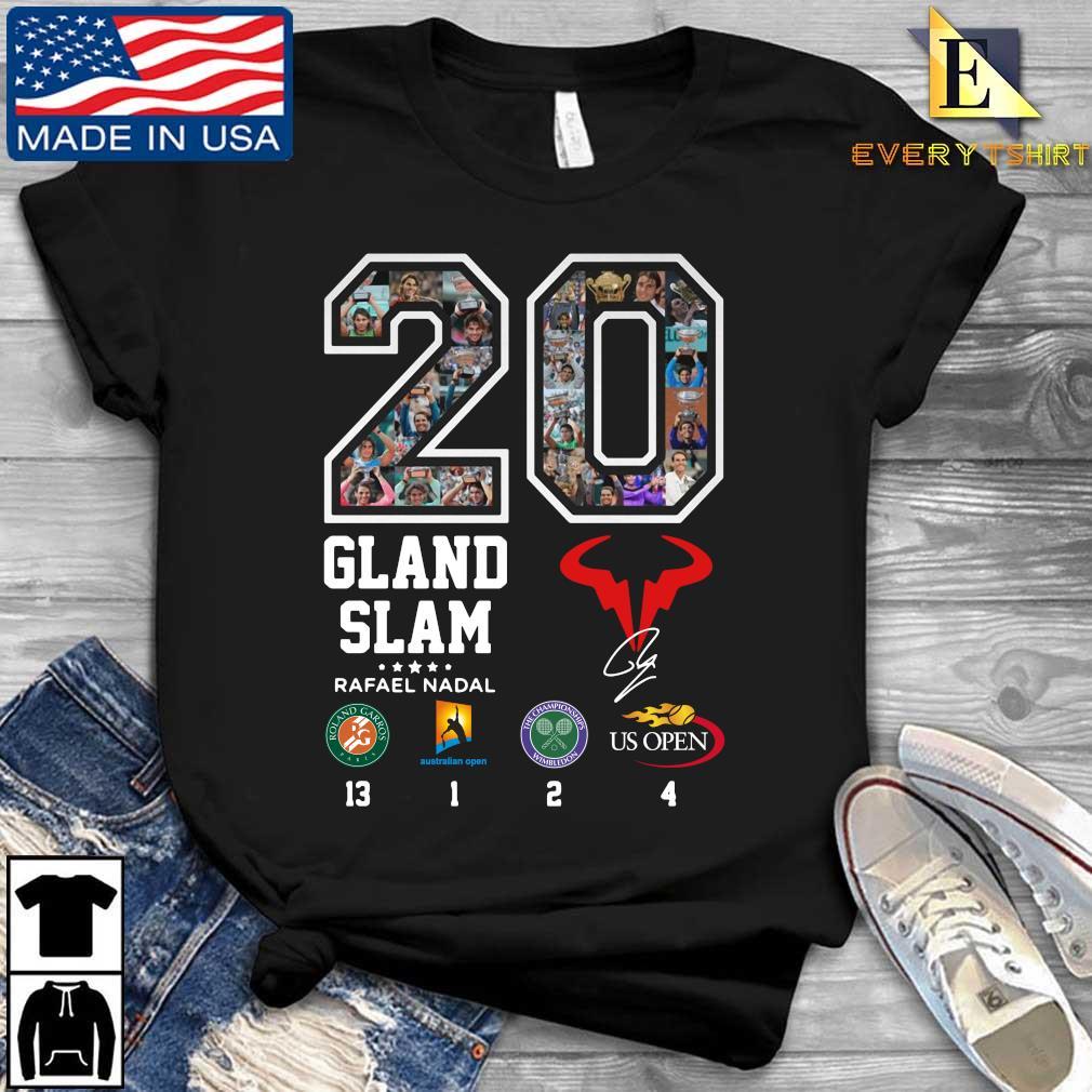 20 Glan Slam Rafael Nadal Us Open signature shirt
