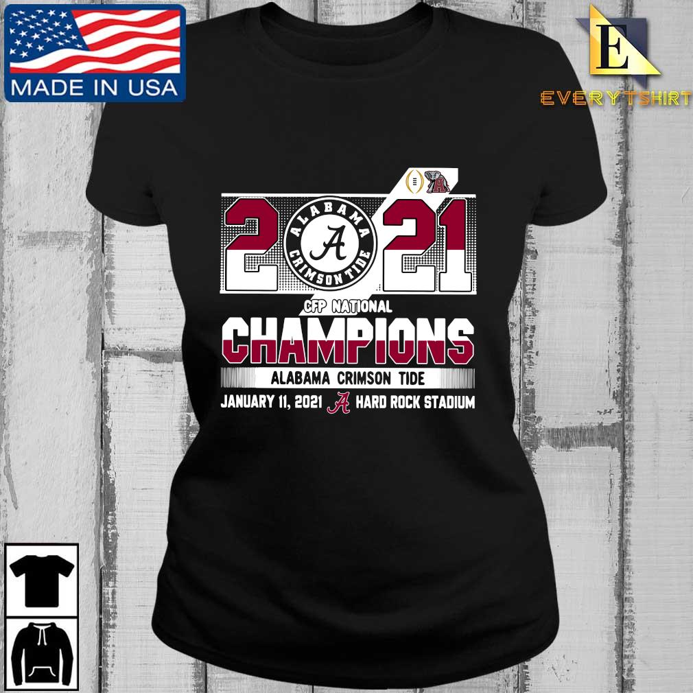 2021 Alabama Crimson Tide CFP national Champions january 11 2021 hard rock stadium s Every ladies den