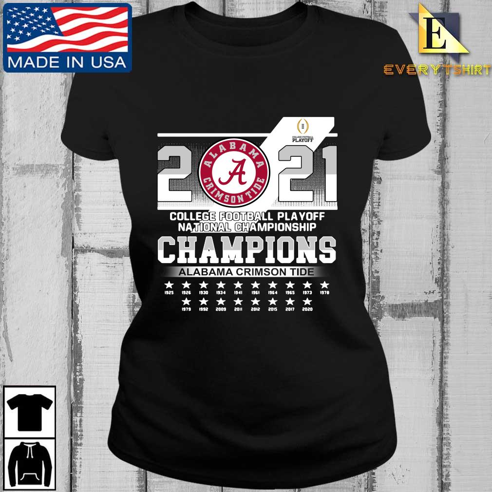 2021 Alabama Crimson Tide college football playoff national Championship Champions 1925-2020 s Every ladies den