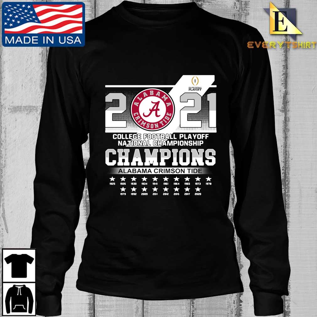 2021 Alabama Crimson Tide college football playoff national Championship Champions 1925-2020 s Longsleeve Every den