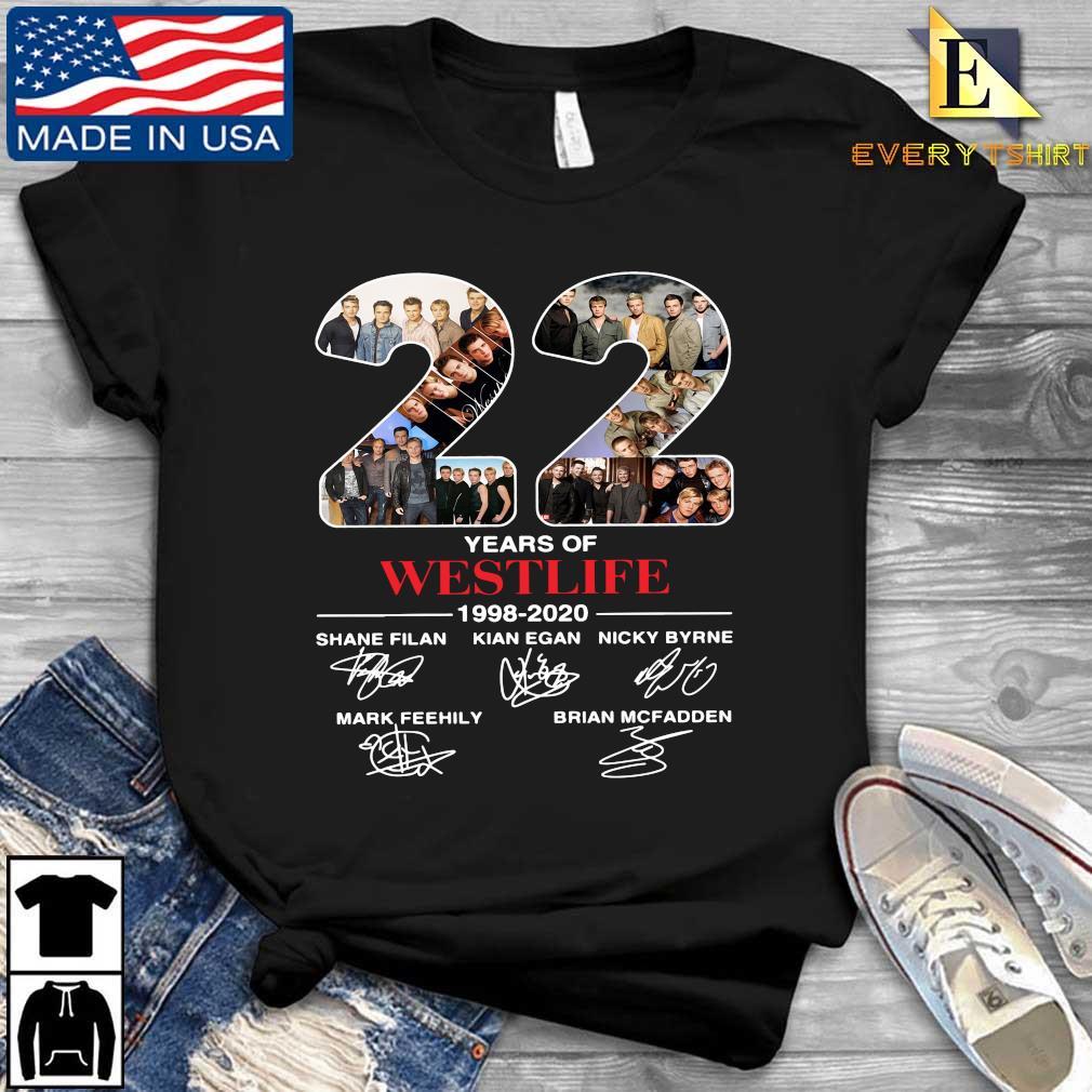 22 years of Westlife 1998-2020 signatures shirt