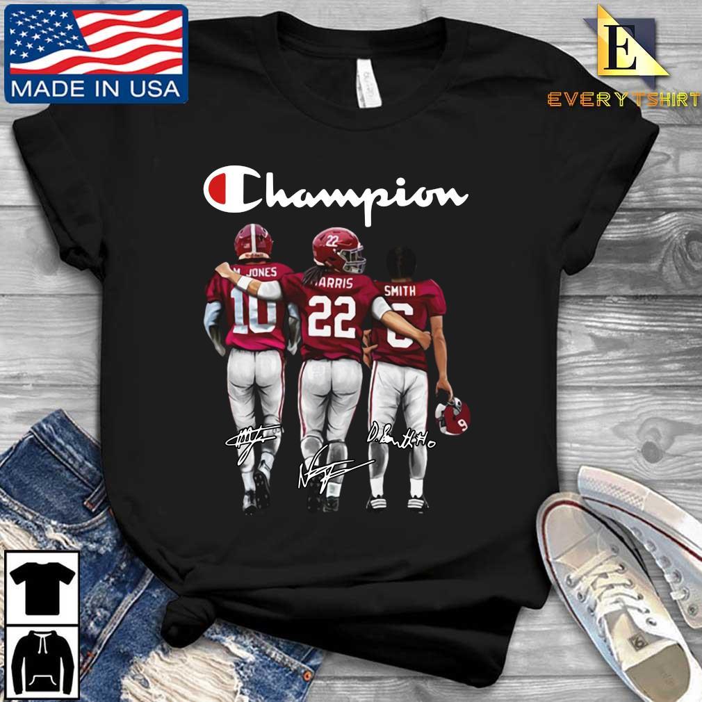 Alabama Crimson Tide Champion M. Jones Harris Smith signatures s Every shirt den dai dien