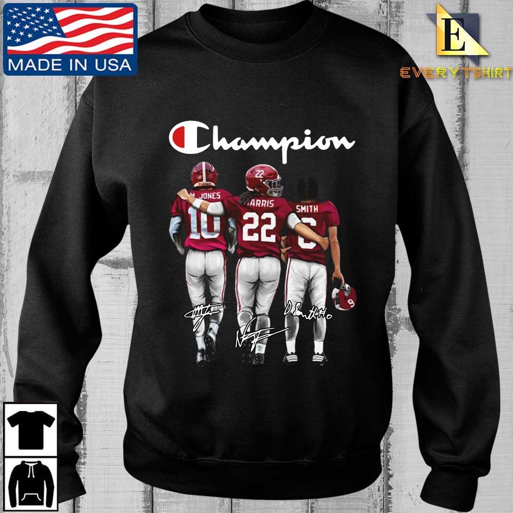 Alabama Crimson Tide Champion M. Jones Harris Smith signatures shirt