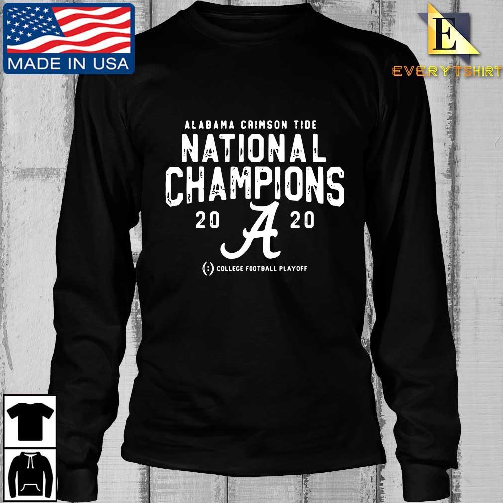 Alabama Crimson Tide national Champions 2020 college football playoff s Longsleeve Every den