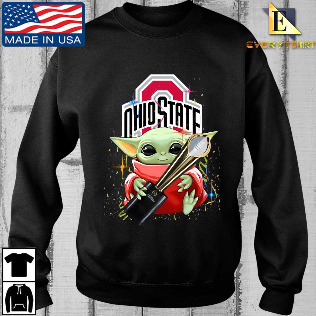 Baby Yoda hug national championship Ohio State Buckeyes shirt