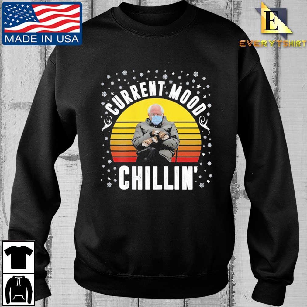 Bernie Sanders Current Mood Chillin' vintage sunset t-shirt