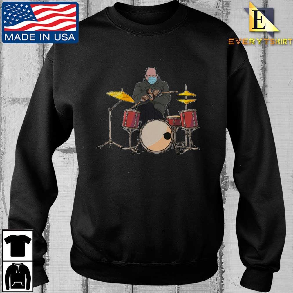 Bernie Sanders Drum Mittens Sitting Shirt
