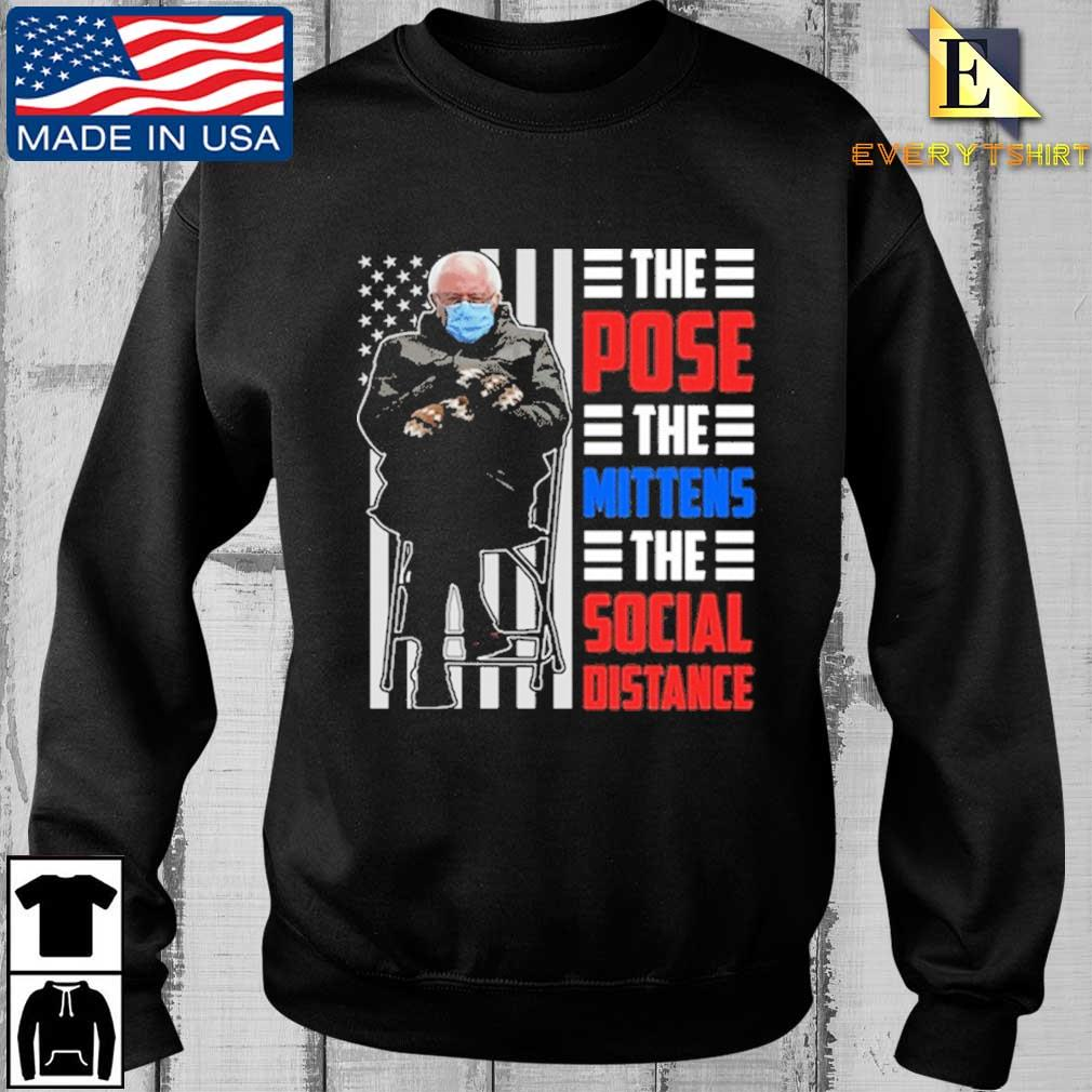 Bernie Sanders the pose the mittens the social distance shirt