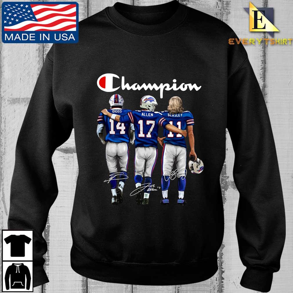 Buffalo Bills Champions Diggs Allen Beasley signatures t-shirt