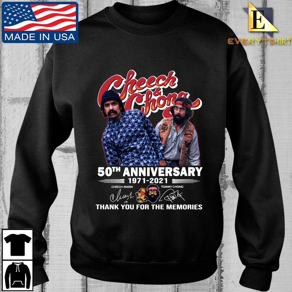 Cheech And Chong 50th anniversary 1971-2021 thank you for the memories signatures shirt