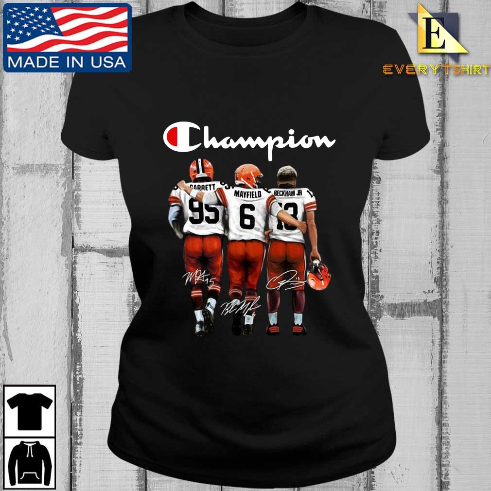Cleveland Browns Champion Carrett Mayfield Beckham Jr sweats Every ladies den