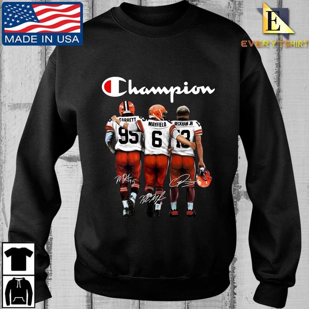 Cleveland Browns Champion Carrett Mayfield Beckham Jr sweatshirt
