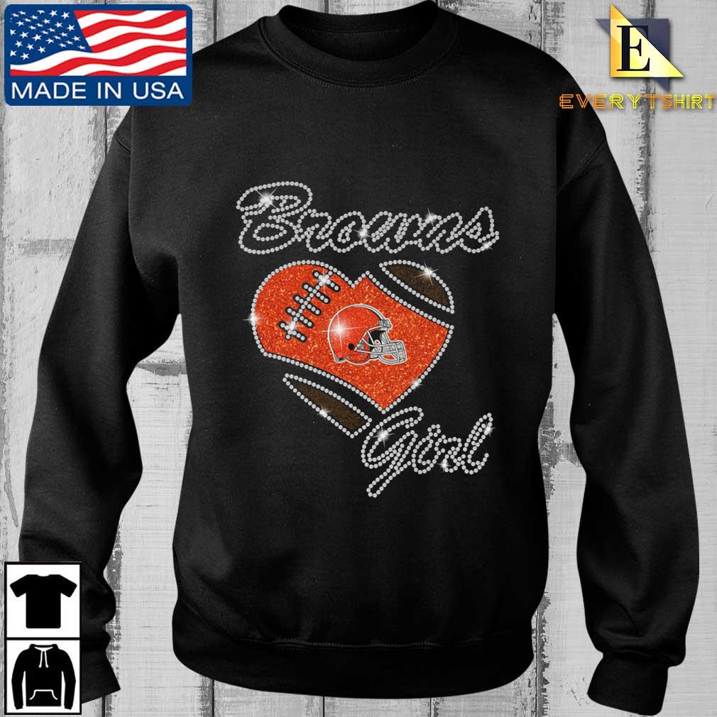 Cleveland Browns heart girl Diamond shirt