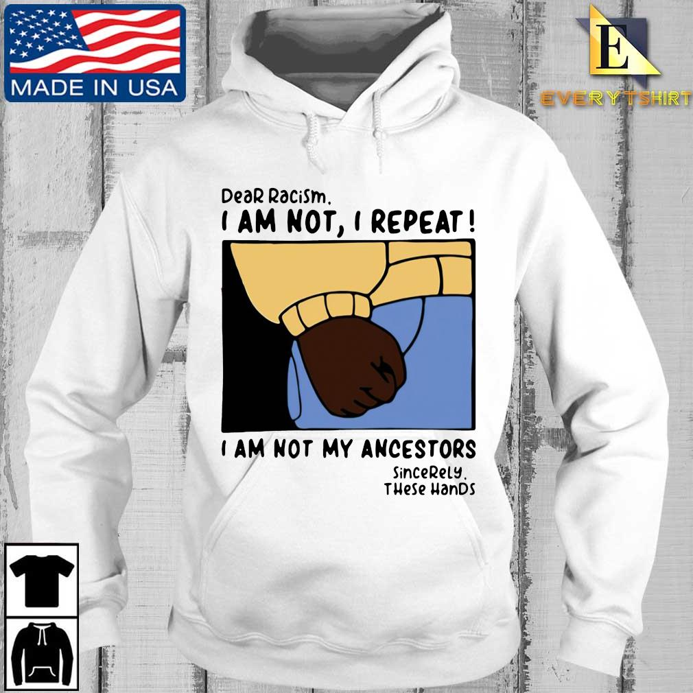 Dear racism I am not I repeat I am not my ancestors s Every hoodie trang