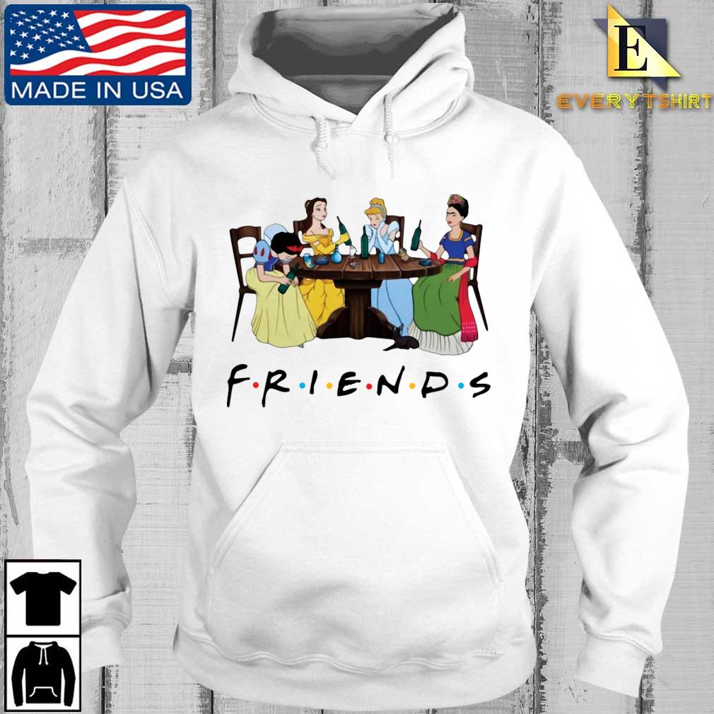Frida Kahlo and Disney princesses drinking Friends TV show tee s Every hoodie trang