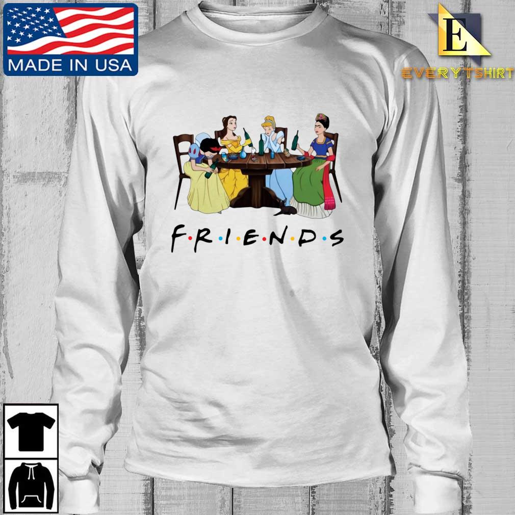 Frida Kahlo and Disney princesses drinking Friends TV show tee s Longsleeve Every trang