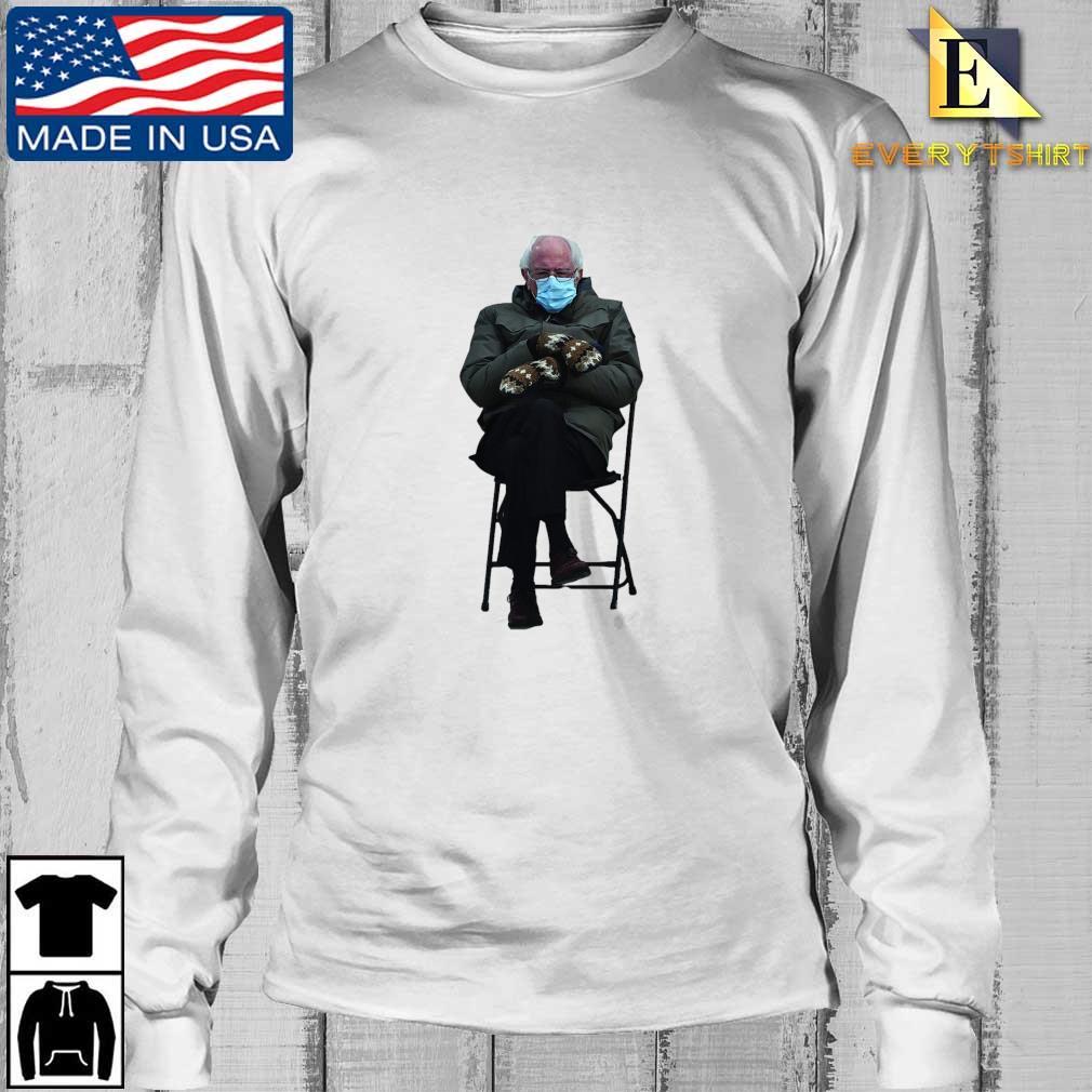 Funny Bernie Sanders Sitting In Chair Inauguration Meme Shirt Longsleeve Every trang