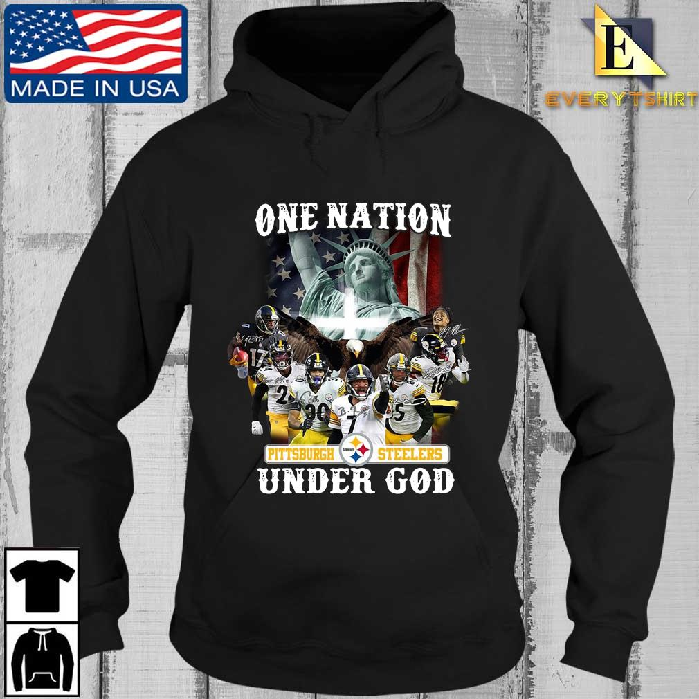 Funny one nation Pittsburgh Steelers under god signatures s Every Hoodie den