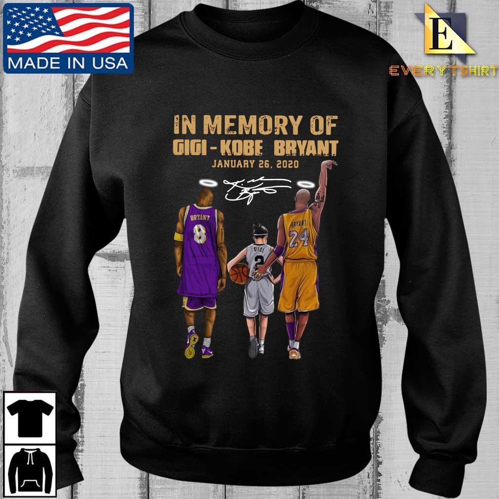 In memory of gigi Kobe Bryant january 26-2020 signature shirt